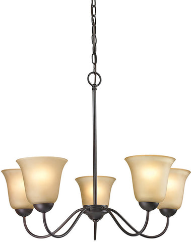 Cornerstone 1205CH/10 Conway 5 Light Chandelier In Oil Rubbed Bronze - PeazzLighting