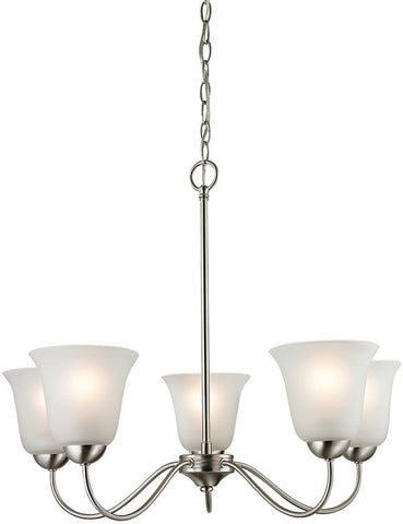 Cornerstone 1205CH/20 Conway 5 Light Chandelier In Brushed Nickel - PeazzLighting