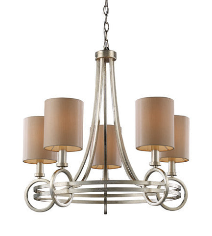 ELK Lighting Lighting 31006-5 New York Five Light Chandelier In Renaissance Silver - PeazzLighting