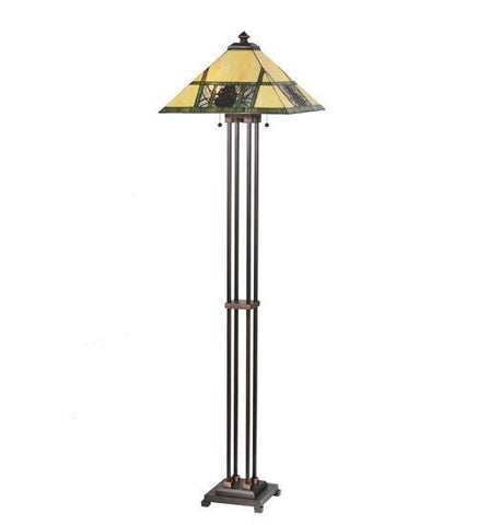 Meyda Tiffany Pinecone Ridge Floor Lamp - PeazzLighting