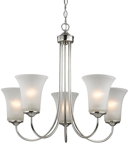 Cornerstone 1915CH/20 Charleston 5 Light Chandeier In Brushed Nickel - PeazzLighting