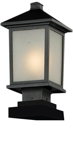 Z-Lite 537phm-sqpm-bk Holbrook Collection Outdoor Post Light - ZLiteStore