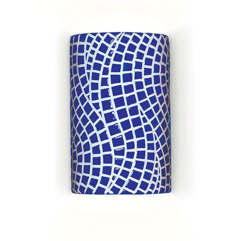 A19 M20302-CB Channels Wall Sconce Cobalt Blue - PeazzLighting
