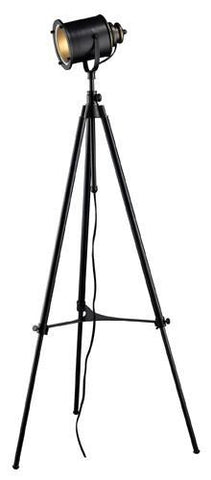 Dimond D1735 Ethan Adjustable Tripod Floor Lamp In Restoration Black - PeazzLighting