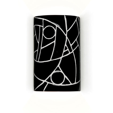 A19 M20303-BL Picasso Wall Sconce Black - PeazzLighting
