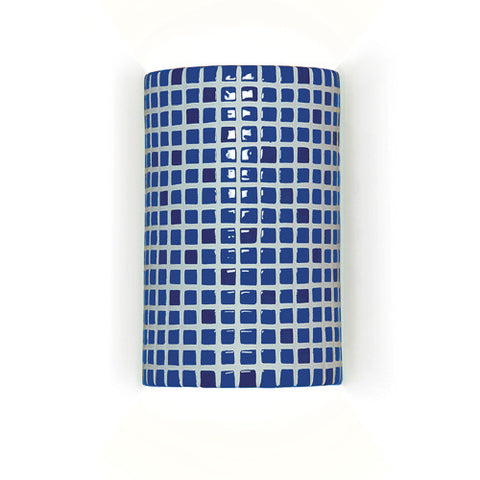 A19 M20308-CB Confetti Wall Sconce Cobalt Blue - PeazzLighting