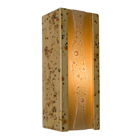 A19 RE116-SS-CM  Bubbly Wall Sconce Sandstorm and Caramel - PeazzLighting