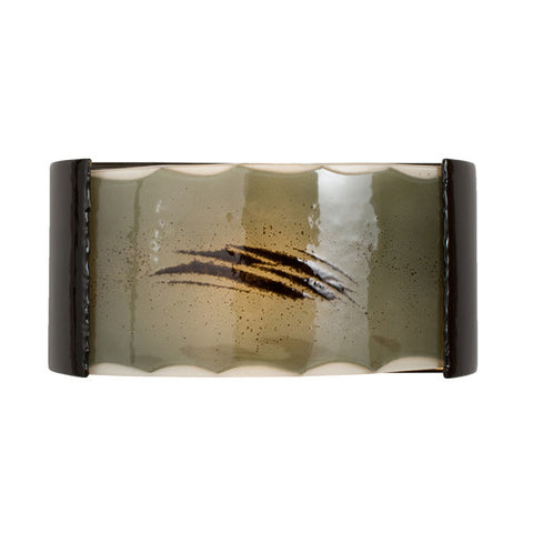 A19 RE106-BG-SW Storm Wall Sconce Black Gloss and Seaweed - PeazzLighting