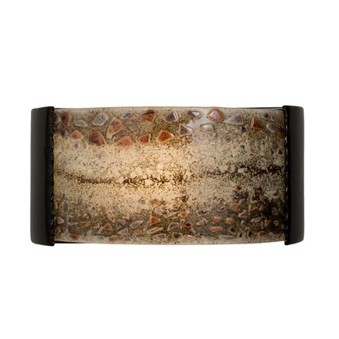 A19 RE108-BG-MGX  Ebb and Flow Wall Sconce Black Gloss and Multi Galaxy - PeazzLighting