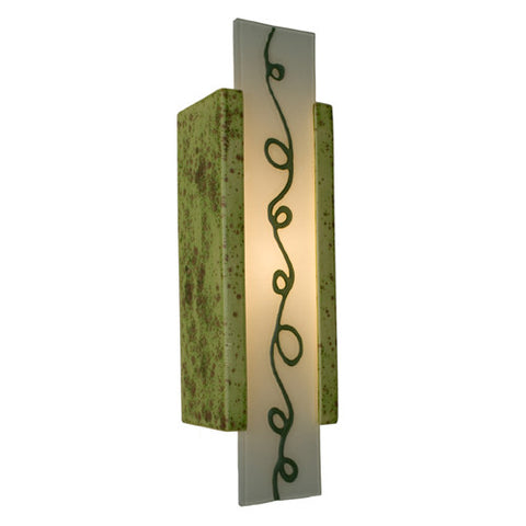 A19 RE114-PS-CL Squiggle Wall Sconce Pistachio and Clover - PeazzLighting