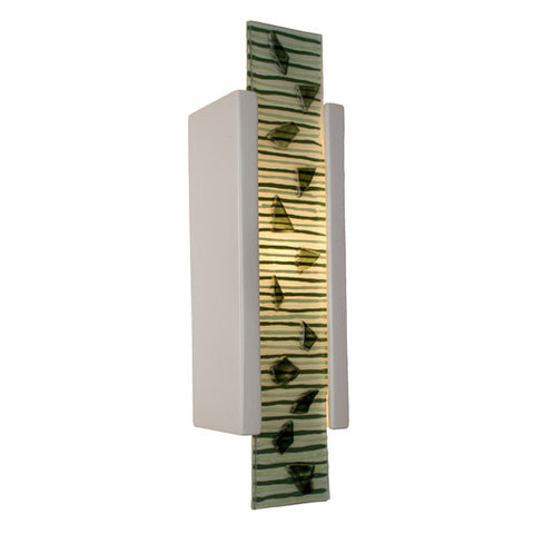 A19 RE115-WG-MSW Zen Garden Wall Sconce White Gloss and Multi Seaweed - PeazzLighting