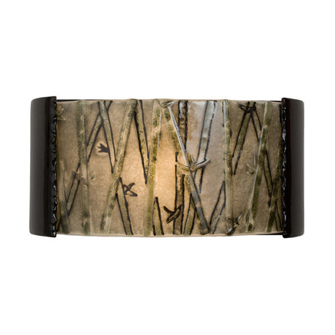 A19 RE105-BG-MSW Asia Wall Sconce Black Gloss and Multi Seaweed - PeazzLighting