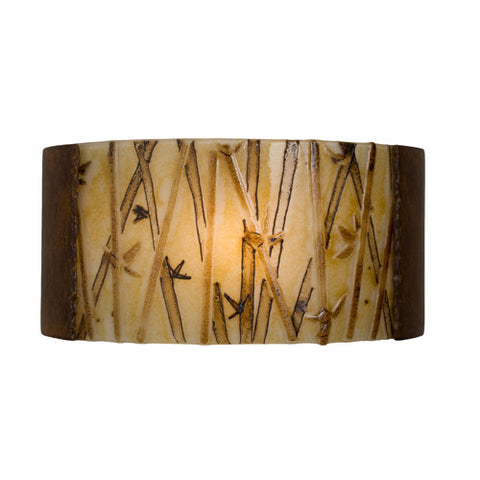 A19 RE105-BT-MCM  Asia Wall Sconce Butternut and Multi Caramel - PeazzLighting