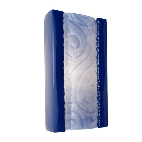 A19 RE102-CB-SH  Clouds Wall Sconce Cobalt Blue and Sapphire - PeazzLighting