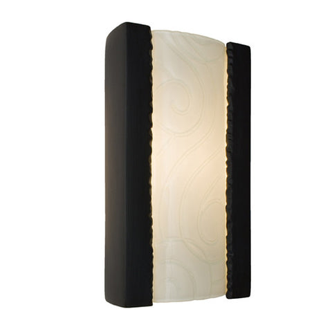 A19 RE102-MB-WF  Clouds Wall Sconce Matte Black and White Frost - PeazzLighting