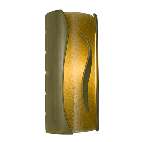 A19 RE119-SG-MS  Flare Wall Sconce Sagebrush and Moss - PeazzLighting