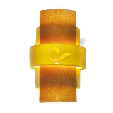 A19 RE121-SY-TG  South Beach Wall Sconce Sunflower Yellow and Tangelo - PeazzLighting