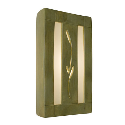 A19 RE111-SG-WF  Spring Wall Sconce Sagebrush and White Frost - PeazzLighting
