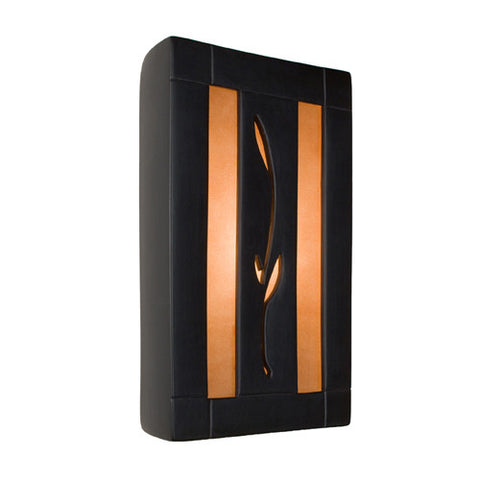 A19 RE111-MB-RW  Spring Wall Sconce Matte Black and Rosewood - PeazzLighting