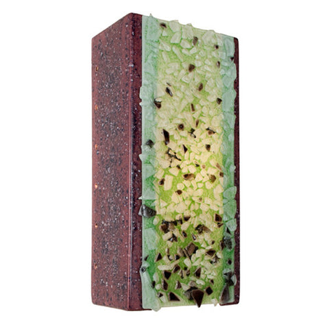 A19 RE109-PJ-MLM  Rocky Wall Sconce Plum Jam and Multi Lime - PeazzLighting