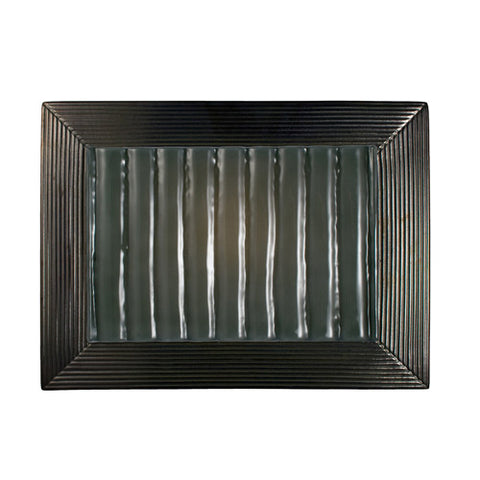 A19 RE104-GM-SW Ripple Wall Sconce Gunmetal and Seaweed - PeazzLighting