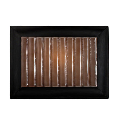 A19 RE104-MB-RW Ripple Wall Sconce Matte Black and Rosewood - PeazzLighting