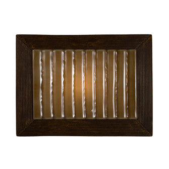 A19 RE104-BT-CM Ripple Wall Sconce Butternut and Caramel - PeazzLighting