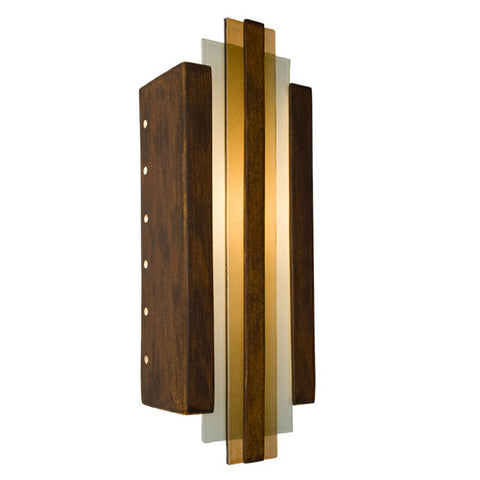 A19 RE113-BT-CM Empire Wall Sconce Butternut and Caramel - PeazzLighting