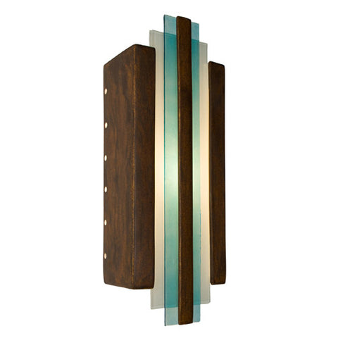 A19 RE113-BT-TQ Empire Wall Sconce Butternut and Turquoise - PeazzLighting