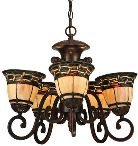 "Meyda Tiffany 125117 20""W Ilona 5 Arm Chandelier - PeazzLighting"