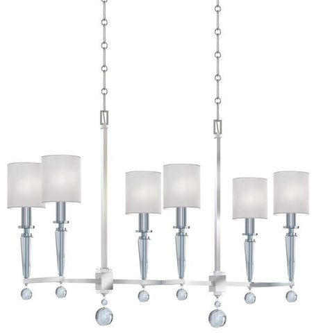 Crystorama 8106-PN Paxton 6 Light Polished Nickel Chandelier - PeazzLighting