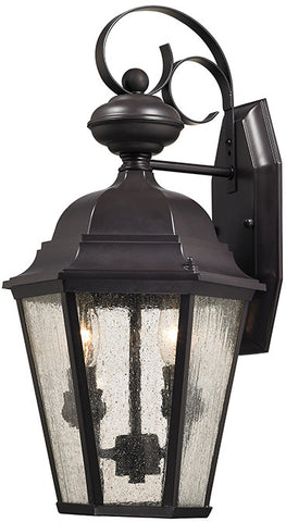 Cornerstone 8902EW/75 Cotswold 2 Light Exterior Wall Lamp In Oil Rubbed Bronze - PeazzLighting