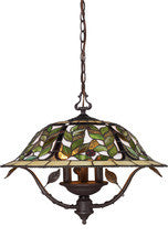 Landmark Lighting 08016-TBH Latham Three Light Chandelier in Tiffany Bronze w/ Highlight - PeazzLighting