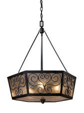 Landmark Lighting 70127-3 Windsor Three Light Chandelier in Tiffany Bronze - PeazzLighting