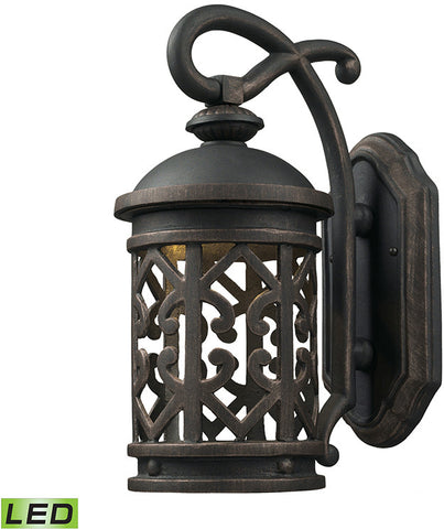 Cornerstone 7201EW/71-LED Tuscany Coast - LED 1 Light Exterior Wall Mount In Weathered Charcoal - PeazzLighting