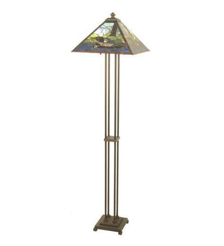 "Meyda Tiffany 69274 63""H Loon Floor Lamp - PeazzLighting"