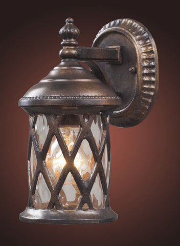ELK Lighting 42036-1 Barrington Gate One Light Outdoor Sconce In Hazelnut Bronze - PeazzLighting