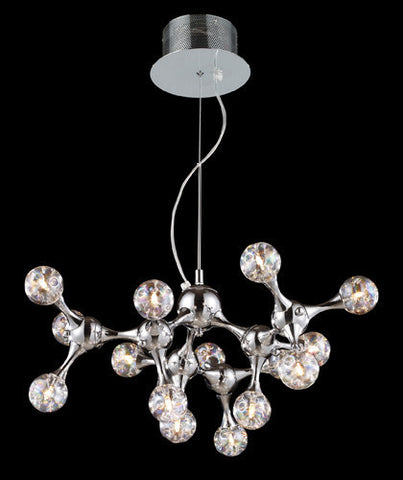 ELK Lighting Lighting 30025-15 Molecular Collection 1Five Light Chandelier In Chrome With Rainbow Glass - PeazzLighting