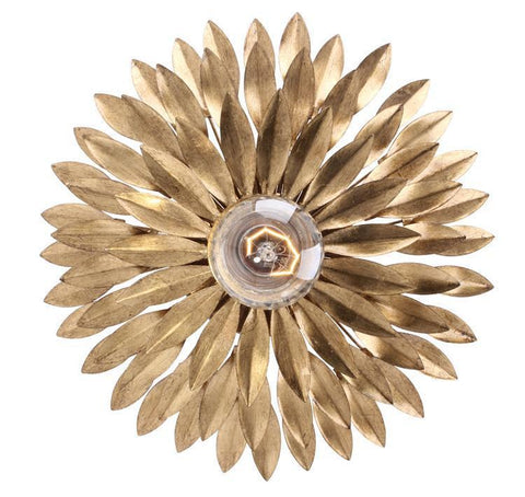 Crystorama 500-GA Broche 1 Light Gold Sconce - PeazzLighting