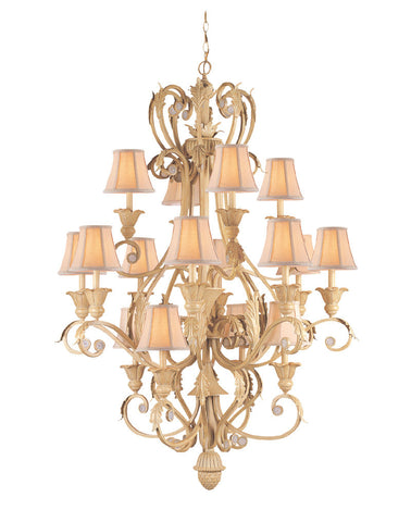 Crystorama Handpainted Wrought Iron Chandelier 4 Lights - Champagne - 6810-CM - PeazzLighting