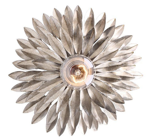Crystorama 500-SA Broche 1 Light Silver Sconce - PeazzLighting
