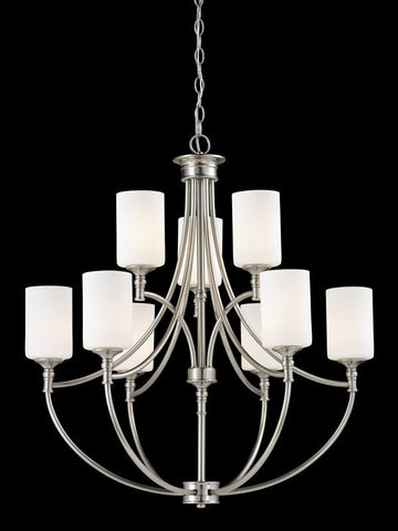 Z-Lite 2102-9 Cannondale Collection Brushed Nickel/Matte Opal Finish 9 Light Chandelier - ZLiteStore