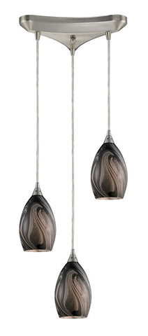 ELK Lighting Formations/Ashflow 3- Light Pendant In Satin Nickel - 31133/3ASH - PeazzLighting