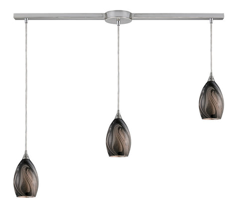 ELK Lighting Formations/Ashflow 3- Light Pendant In Satin Nickel - 31133/3L-ASH - PeazzLighting