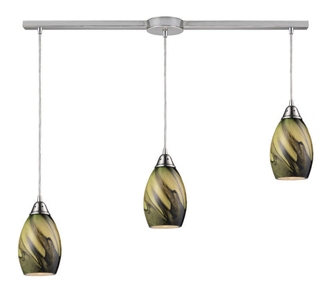 ELK Lighting Formations/Planetary 3- Light Pendant In Satin Nickel - 31133/3L-PLN - PeazzLighting