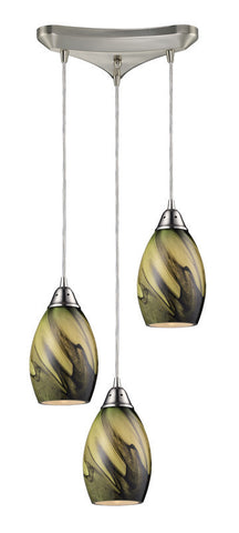 ELK Lighting Formations/Planetary 3- Light Pendant In Satin Nickel - 31133/3PLN - PeazzLighting