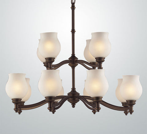 Z-Lite Hollywood Collection Olde Bronze Finish 12 Light Chandelier - ZLiteStore