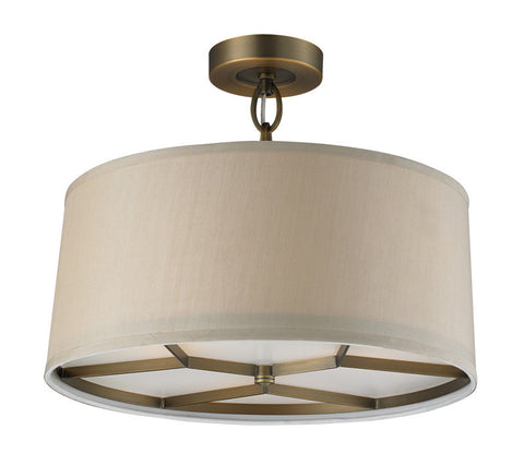 ELK Lighting Baxter 3- Light Pendant In Brushed Antique Brass - 31262/3 - PeazzLighting