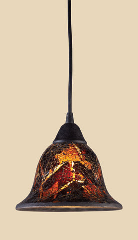 ELK Lighting 10144-1Fs Firestorm One Light Pendant In Dark Rust - PeazzLighting