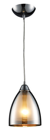 ELK Lighting 10073-1 Reflections One Light Pendant In Polished Chrome - PeazzLighting